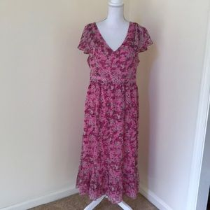 NWT! Michael Michael Kors Size 12, hibiscus dress